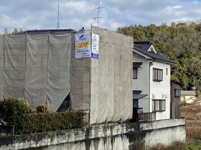 株式会社 ハウスサポート様より外壁塗装実施中